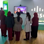 A personal greeting for students via Telepresence